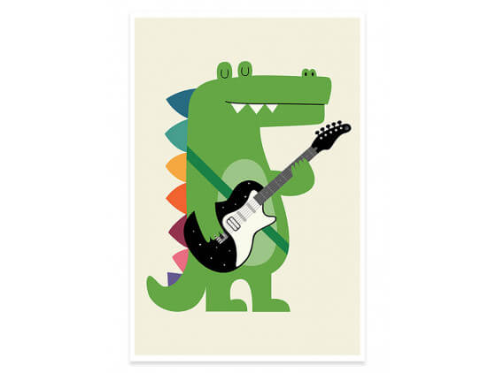 Affiche Enfant Rock Croco