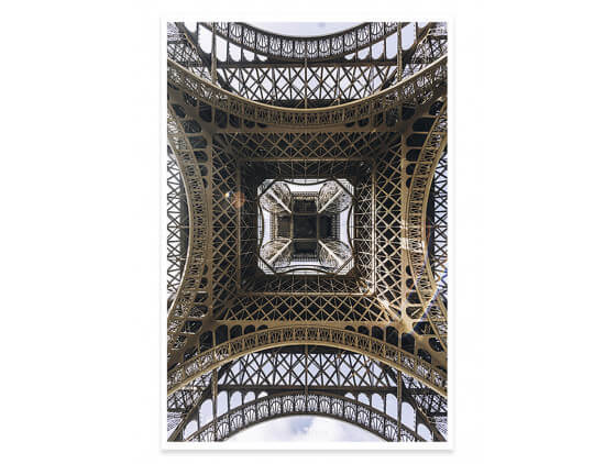 Affiche Photo Eiffel et son Fer