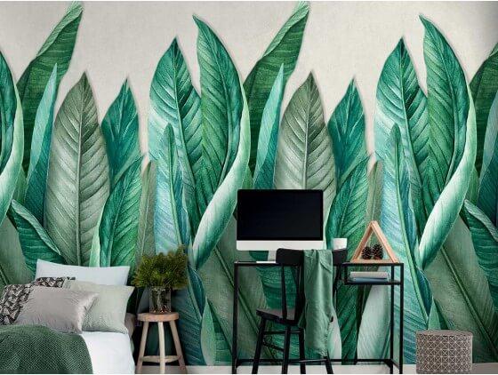 Papier peint rouleau Collection végétale feuilles de bananier