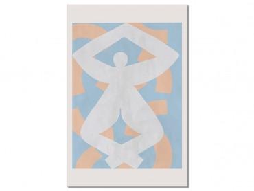 Tableau Deco Pastel et Courbe