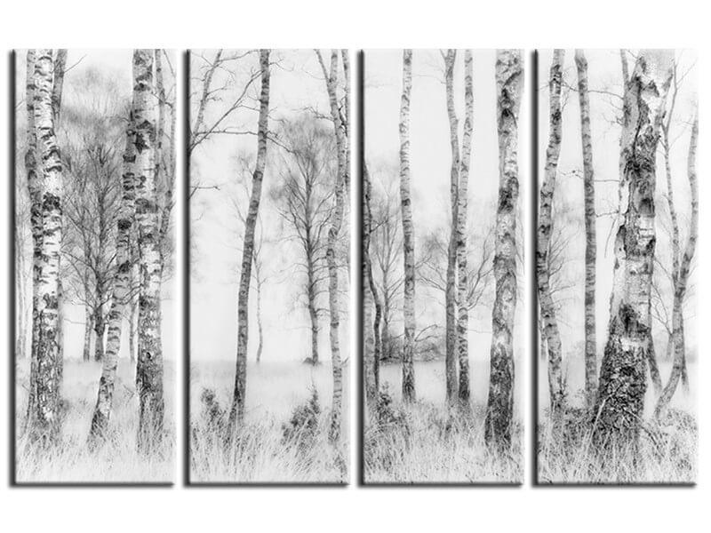 Decoration murale - Tableau arbre en Noir et Blanc│HEXOA®