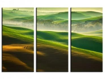 Tableau Nature collines brumeuses