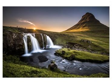 Tableau paysage cascade O - Kirkjufell Islande