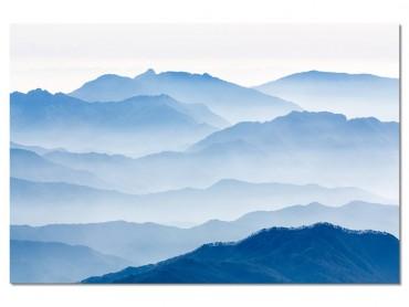 Tableau Paysage Montagnes bleues