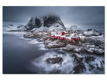 Tableau Paysage hiver magique aux Lofoten