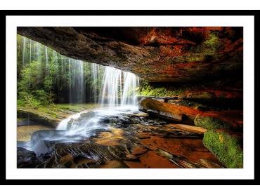 Affiche Nature chute d'eau