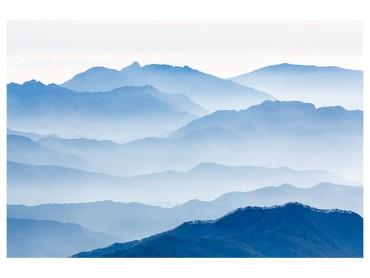 Affiche Paysage Montagnes bleues