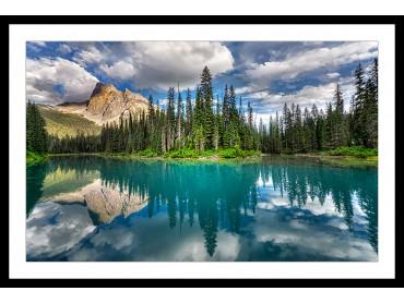 Affiche Deco Lac bleu éméraude