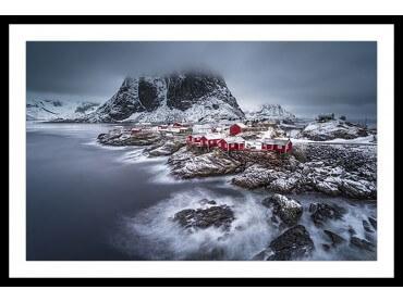 Affiche Paysage hiver magique aux Lofoten