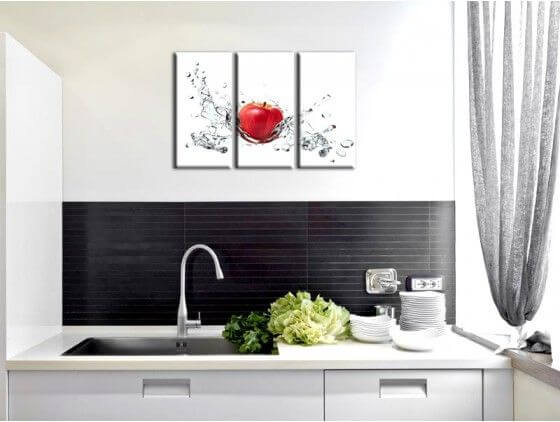 d co murale pour cuisine vente de tableau pomme rouge pas cher. Black Bedroom Furniture Sets. Home Design Ideas