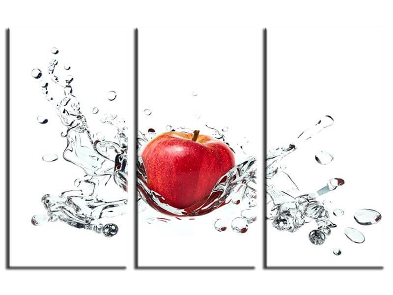 d233co murale pour cuisine vente de tableau pomme rouge
