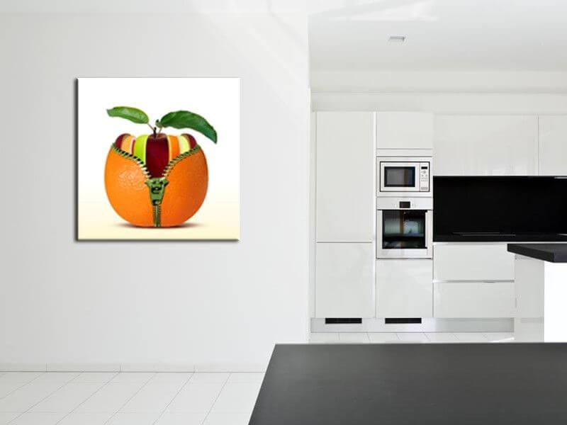Tableau cuisine et fruits pas cher  Décoration de cuisine