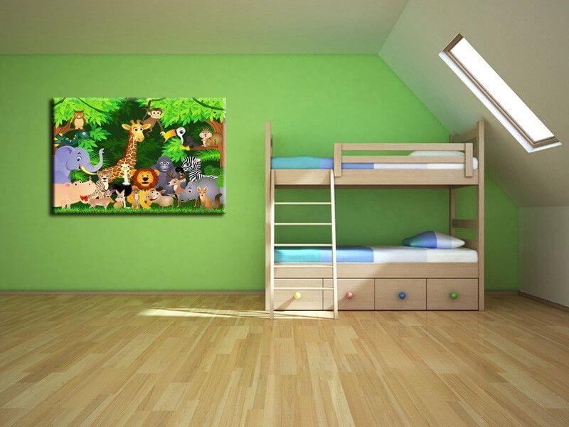 d coration de chambre enfant tableau animaux color s pas cher. Black Bedroom Furniture Sets. Home Design Ideas