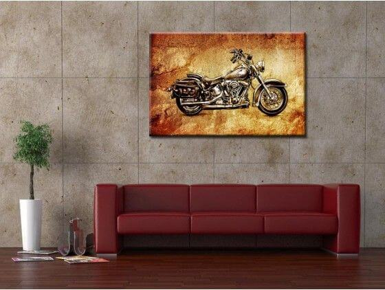 tableau moto vintage harley davidson d coration murale hexoa. Black Bedroom Furniture Sets. Home Design Ideas