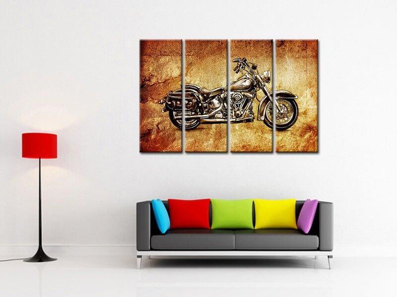 Tableau Moto Vintage Harley Davidson Decoration Murale Hexoa,Design Your Own Cattle Brand