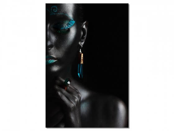 Tableau Photo d'art Girl Turquoise