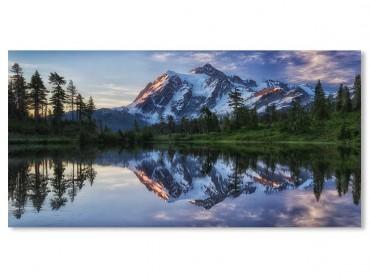 Tableau Paysage Aurore sur le Mont Shuksan