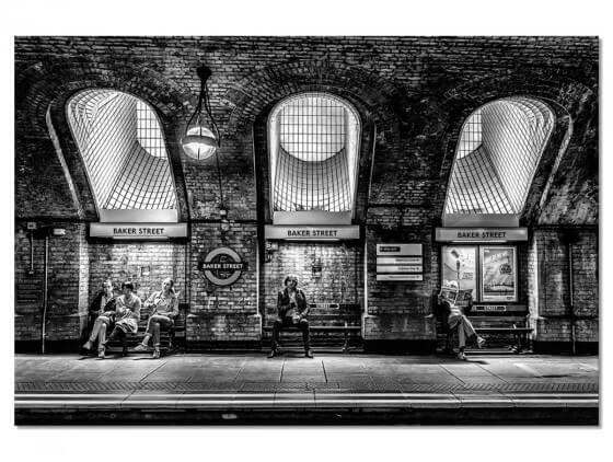 Tableau Noir et blanc Baker Street