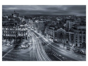 Tableau Deco Madrid City Lights
