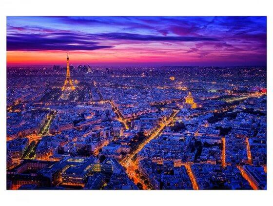 Tableau Paysage Paris City Lights