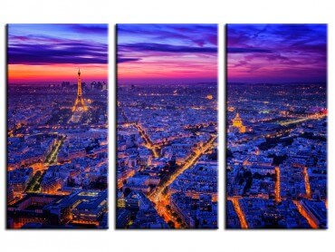 Tableau Paysage Paris City Lights