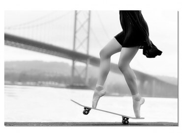 Tableau d'Art Skater Girl