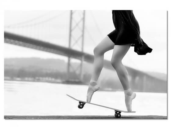Tableau d'Art Skater Girl