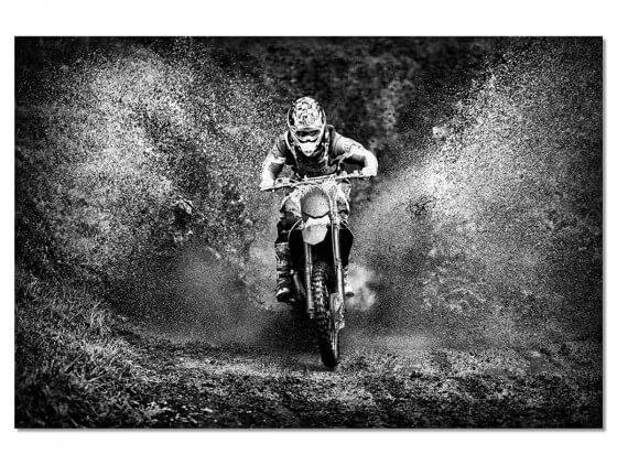 Tableau Deco Moto Cross Accelaration