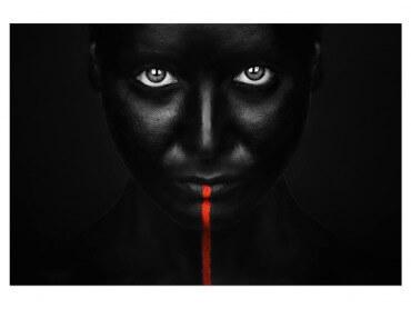 Tableau Photo d'art Portrait Rouge