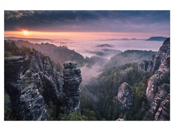 Tableau Paysage Sunrise on the Rocks