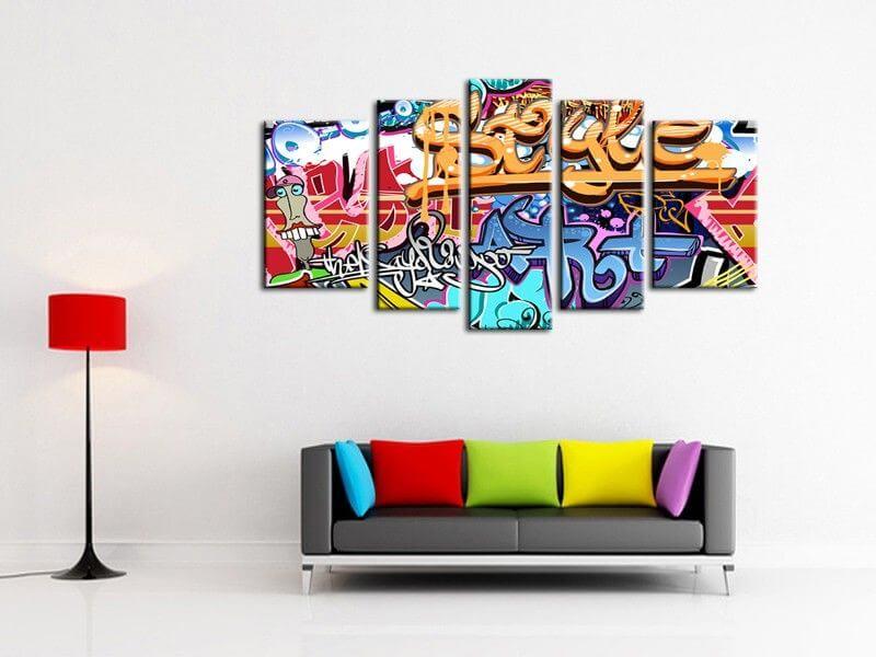 Tableau graffiti tag moderne pas cher tableaux deco design for Tableau deco design
