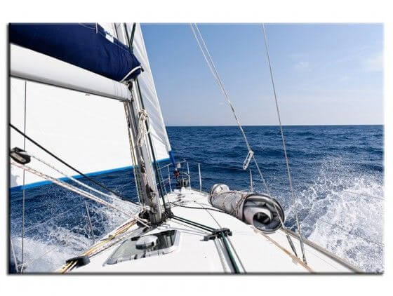 Tableau décoratif moderne skipper voilier