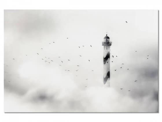 Tableau Deco Phare dans le brouillard