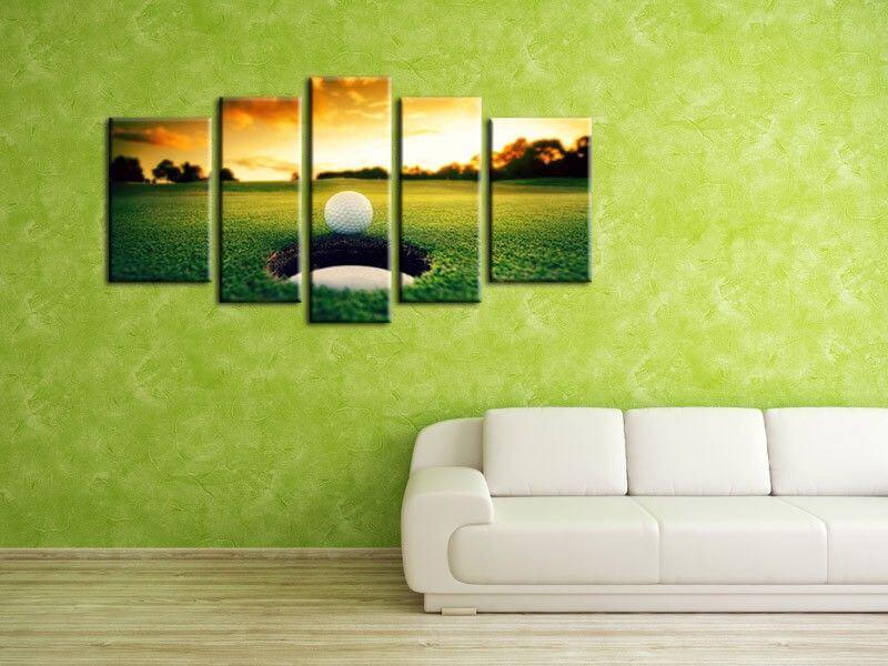 D coration murale tableau golf en toile plexiglass et aluminium - Tableaux decoration murale ...
