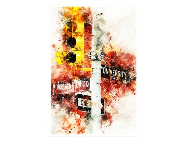 Affiche Deco Traffic lights University Place