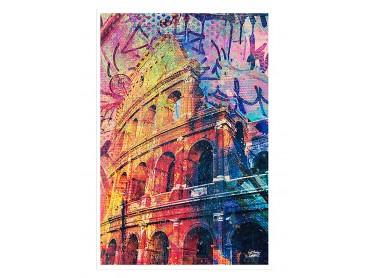 Affiche Deco Colisée PopArt et graffiti