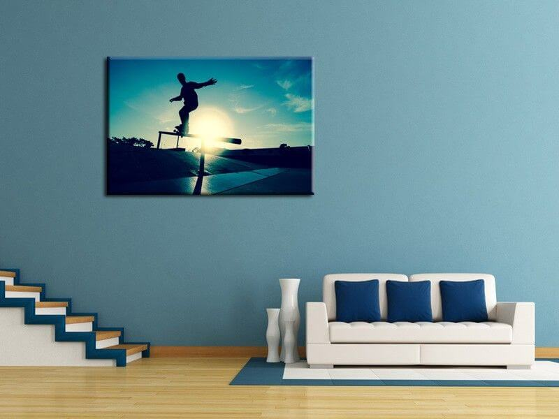 tableau photo de skate en toile plexiglass et alu pas cher. Black Bedroom Furniture Sets. Home Design Ideas