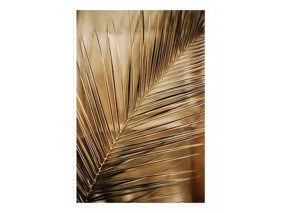Affiche Deco Golden Palm