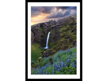 Affiche Paysage Voyage en Islande