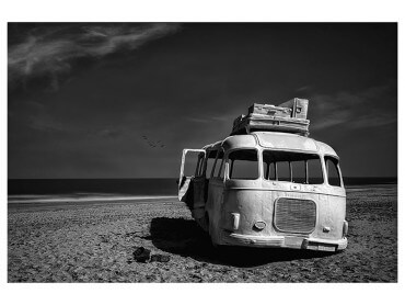 Affiche Deco Beached Bus