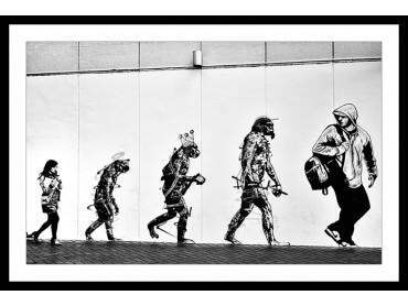 Affiche Noir et Blanc Evolution