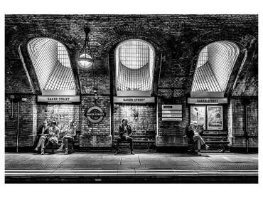 Affiche Noir et blanc Baker Street