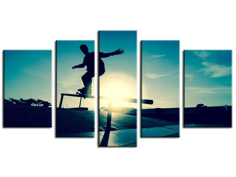Tableau photo de skate en toile plexiglass et alu pas cher - Tableaux decoration murale ...