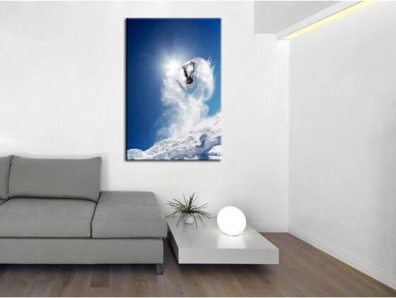 tableau snowboarder et montagne prix imbattable sur. Black Bedroom Furniture Sets. Home Design Ideas