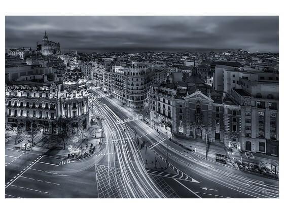 Affiche Deco Madrid City Lights