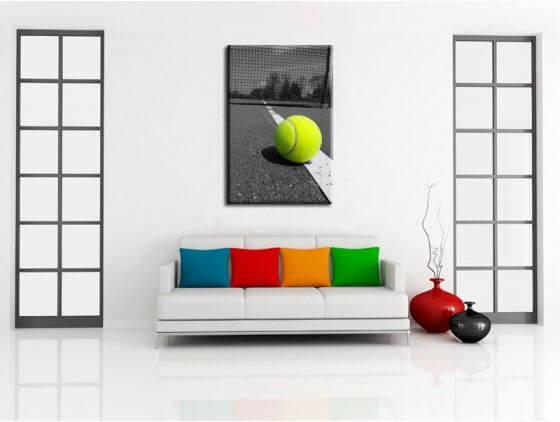 tableau d co tennis toile plexi alu d co murale pas ch re. Black Bedroom Furniture Sets. Home Design Ideas