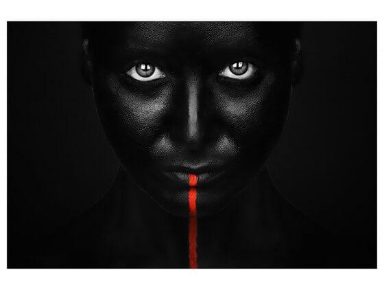 Affiche Photo d'art Portrait Rouge
