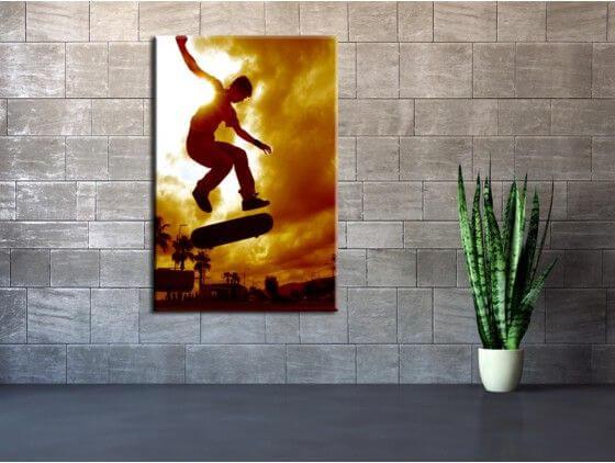 Tableau photo déco skater