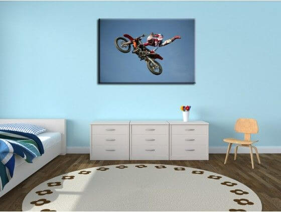 Tableau déco moderne superman motocross