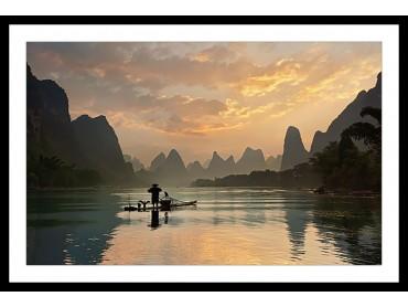 Affiche Paysage Baie D' Halong